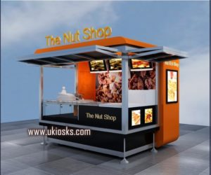 Nut kiosk design for outdoor