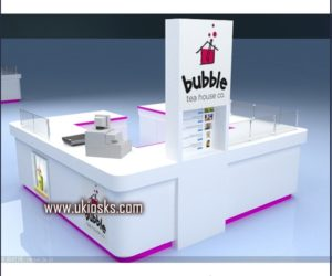 bubble tea kiosk design in mall for sale