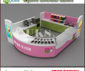 customized and fashionable juice kiosk design in mall for sale