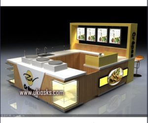 customized food kiosk  / crepe kiosk design for shopping mall