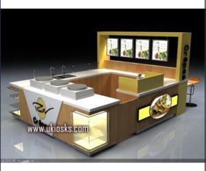 customized food kiosk  / crepe kiosk design for shopping mall