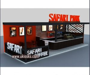 customized coffee kiosk design in mall for sale