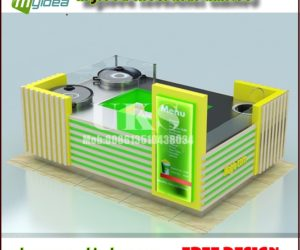 10*8feet customized corn kiosk in mall for sale