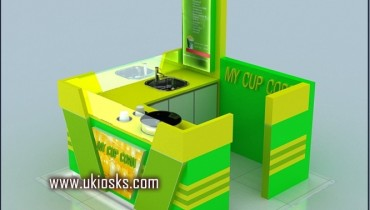 2m by 2m wooden cabinet mall corn kiosk for sale