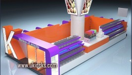 Hot selling candy kiosk nuts display kiosk design retail candy kiosks