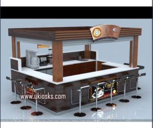 customized coffee kiosk | mall kiosk design in mall for sale