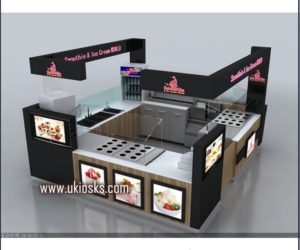 4m by 4m customized juice kiosk in mall for sale