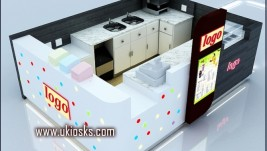 wooden cabinet made in China ice cream kiosk for sale