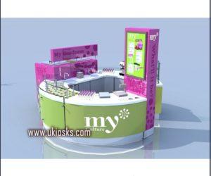 beauty and pop yogurt kiosk for shopping mall