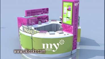 beauty and pop yogurt kiosk for shopping mall