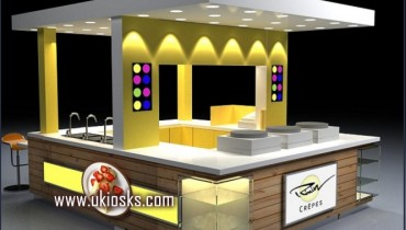 hot sale mall kiosk customized crepe kiosk with bar counter