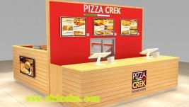 customized 12 by 14 feet pizza kiosk |fast food kiosk for shopping mall