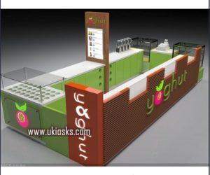 high quality customized frozen yogurt kiosk design in mall for sale