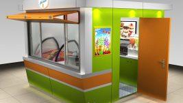 high quality outdoor food kiosk | ice cream kiosk design for sale