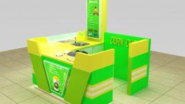 2m by 2m mini corn kiosk design for sale