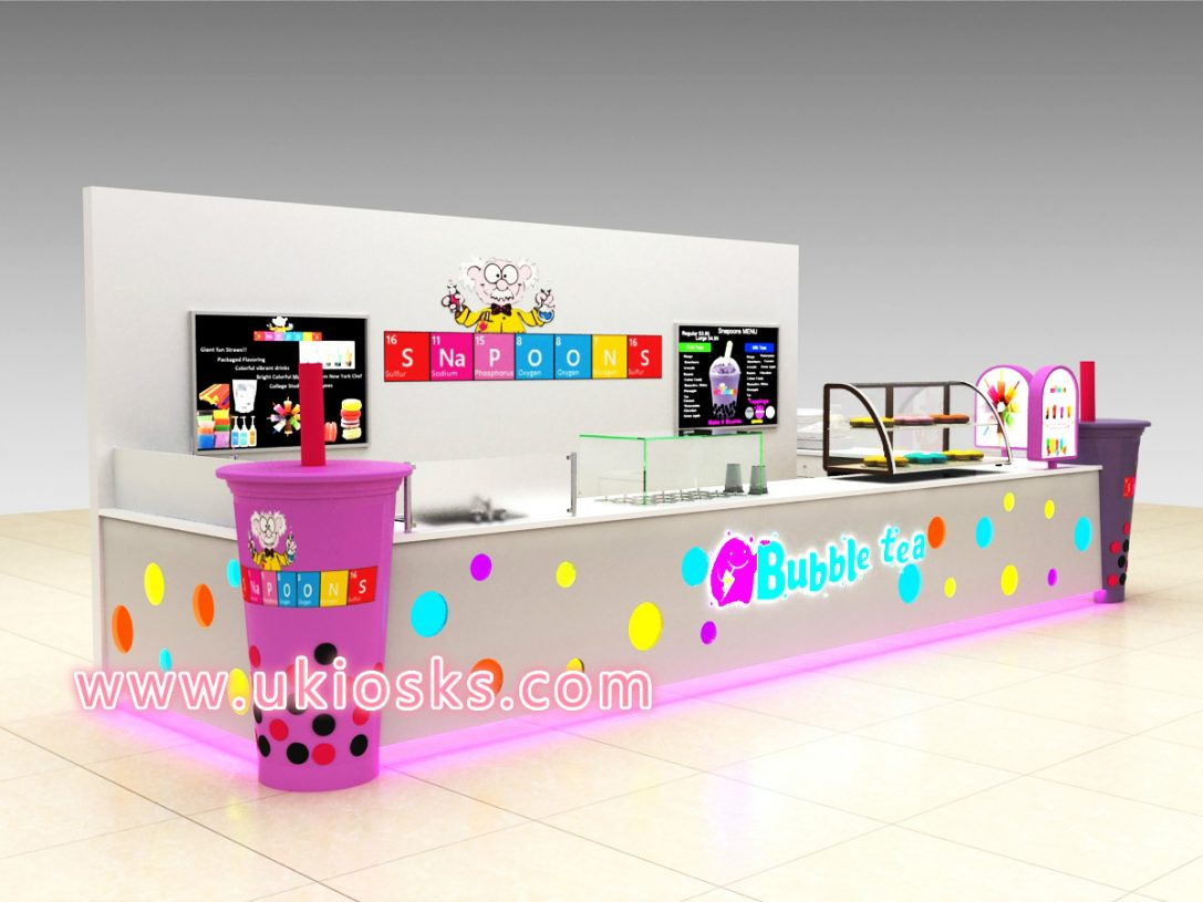100 +cheap mall bubble tea kiosk for sale