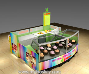 customized mall kiosk  | ice cream kiosk design in mall for sale