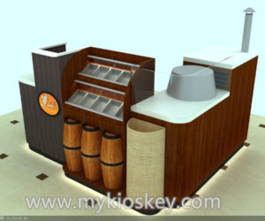 customized nut kiosk design in mall for sale