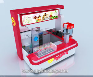 4m by 3m ice cream kiosk design in mall for sale