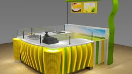 high quality mini popcorn kiosk | corn kiosk in mall for sale