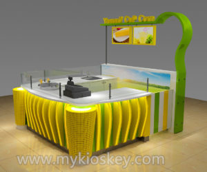high quality mini popcorn kiosk | corn kiosk in mall for sale