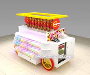 customized candy kiosk design for shopping mall