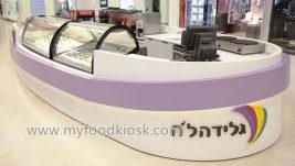 Newest design mall ice cream kiosk for sale
