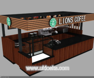 Customized LIONS coffee kiosk design  for shopping mall