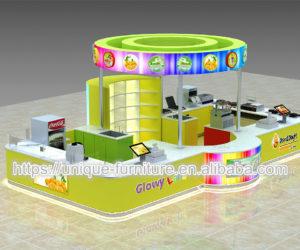 factory direct sale juice kiosk design for sale