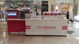 Pinkspoon juice kiosk design for shopping  mall