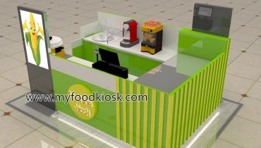 hot sale newest design corn kiosk for shopping mall