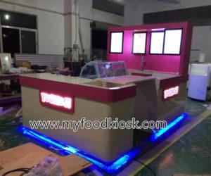YOMOG ice cream kiosk design for shopping mall