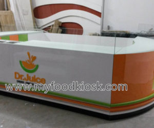 Dr. juice kiosk design for shopping mall