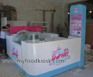 Sweet bubble tea kiosk design for sale