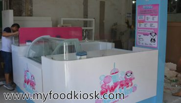 Sweet bubble tea kiosk design for sale