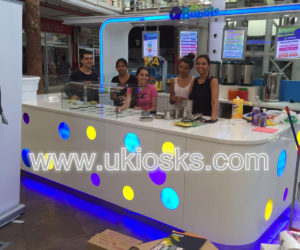 Hot selling style mall food bubble tea kiosk in mall