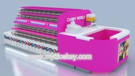 beauty sweet candy kiosk design for shopping mall