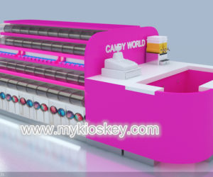 beauty sweet candy kiosk design for shopping mall