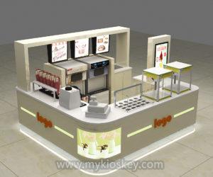 Frozen yogurt kiosk design for sale