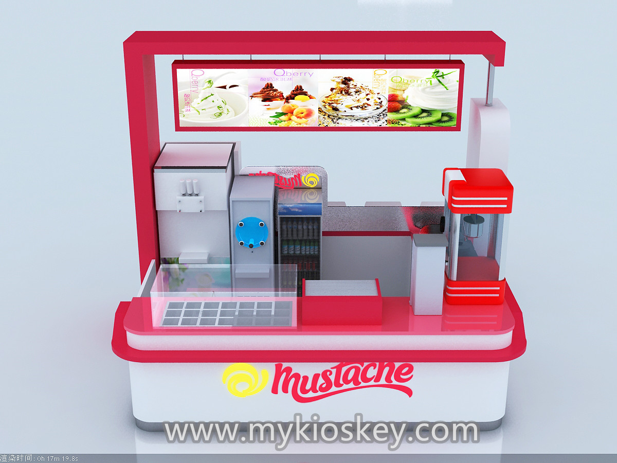 frozen yogurt kiosk