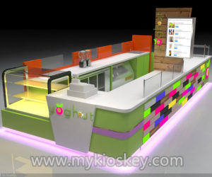 Newest design frozen yogurt kiosk for shopping mall