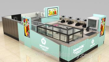high quality juice kiosk design for shopping mall