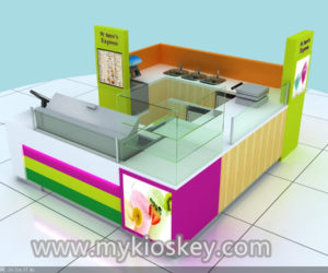 colorful ice cream kiosk design for shopping mall