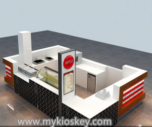 Customized waffle kiosk design for shopping mall