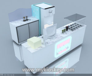 2m by 2m Mini frozen yogurt kiosk design for sale
