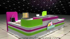 high end customized frozen yogurt kiosk design for sale