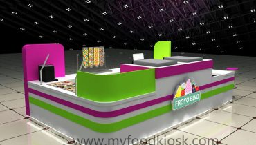 high end customized frozen yogurt kiosk design for sale
