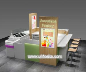 Customized ice cream kiosk with led light for sale