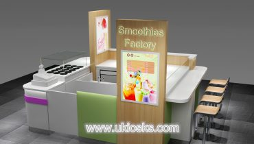 Customized ice cream kiosk with led light for sale