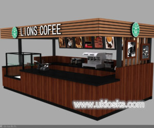 Lions coffee kiosk design in mall for sale